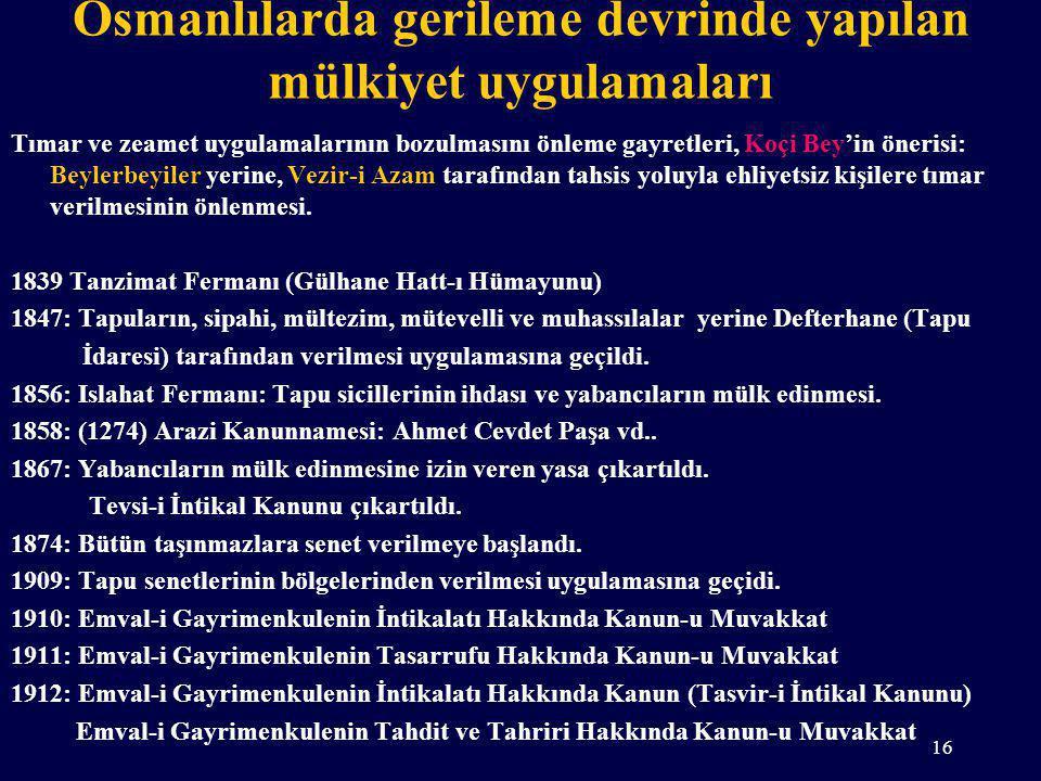 Osmanlılarda gerileme devrinde yapılan mülkiyet uygulamaları Tımar ve zeamet uygulamalarının bozulmasını önleme gayretleri, Koçi Bey'in önerisi: Beyle