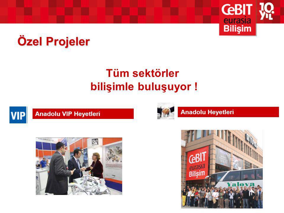 Özel Projeler Anadolu VIP Heyetleri Anadolu Heyetleri Tüm sektörler bilişimle buluşuyor !