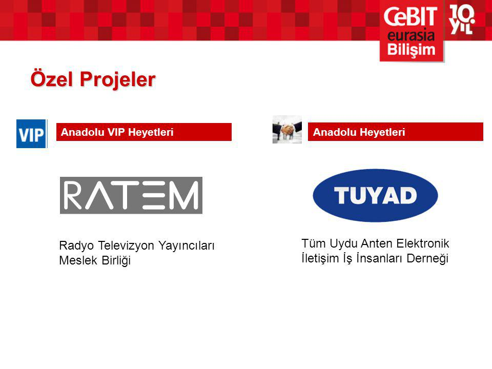 Özel Projeler Radyo Televizyon Yayıncıları Meslek Birliği Anadolu VIP Heyetleri Anadolu Heyetleri Tüm Uydu Anten Elektronik İletişim İş İnsanları Dern