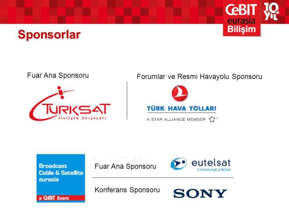 Sponsorlar Fuar Ana Sponsoru Forumlar ve Resmi Havayolu Sponsoru Fuar Ana Sponsoru Konferans Sponsoru