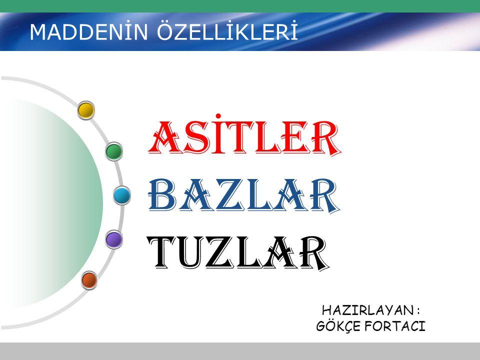 Zayıf Asitler… Malik Asit Sitrik asit Asetik asit Laktik Asit