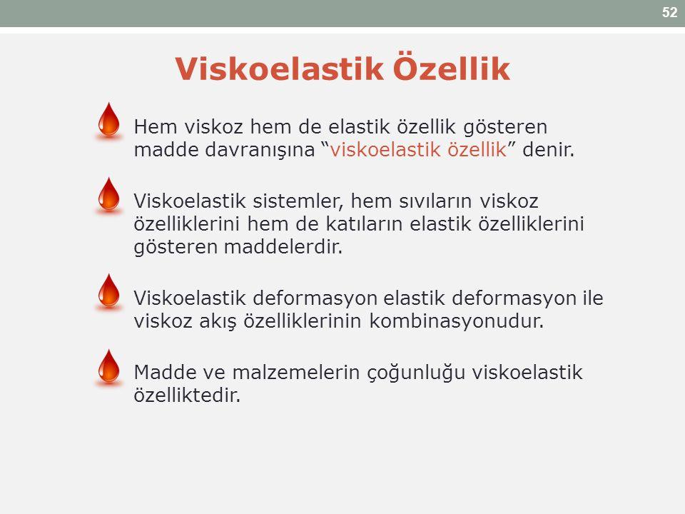"""Viskoelastik Özellik Hem viskoz hem de elastik özellik gösteren madde davranışına """"viskoelastik özellik"""" denir. Viskoelastik sistemler, hem sıvıların"""