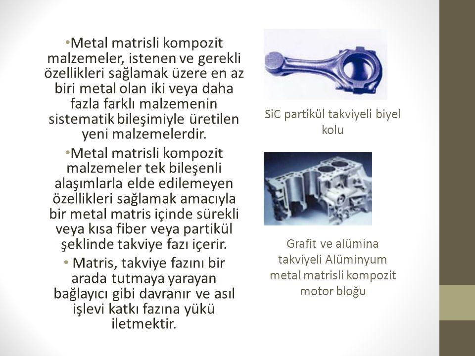 Metal matrisli kompozit malzemeler, istenen ve gerekli özellikleri sağlamak üzere en az biri metal olan iki veya daha fazla farklı malzemenin sistemat