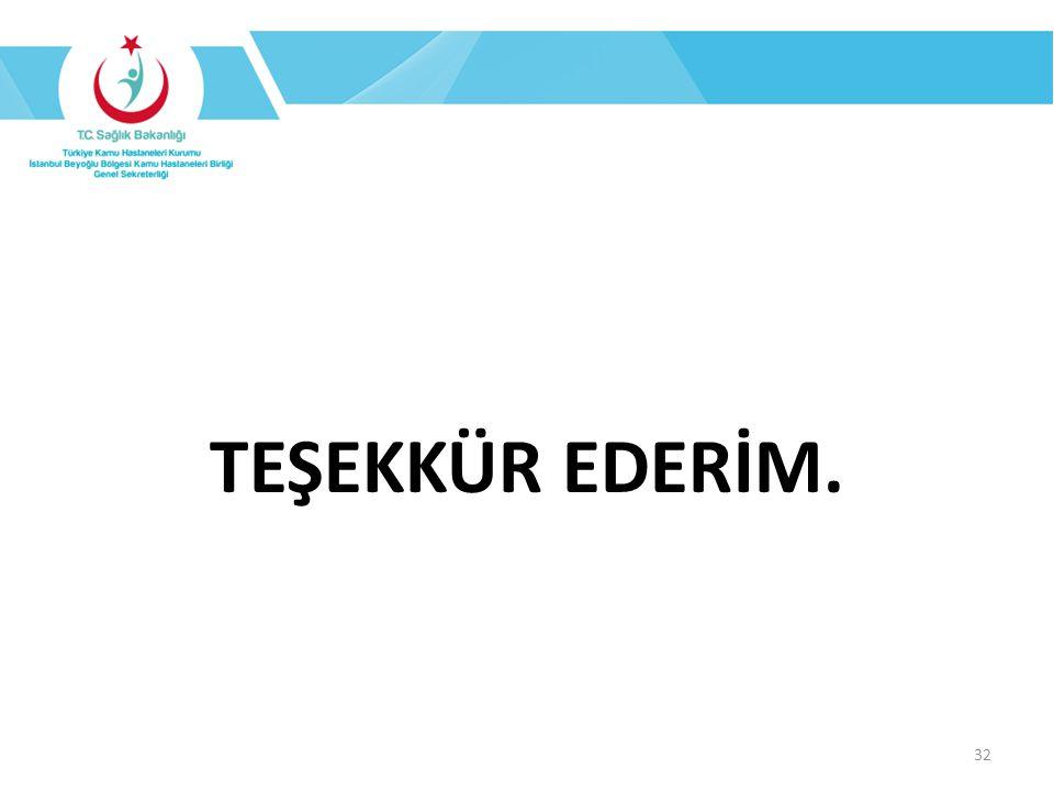 TEŞEKKÜR EDERİM. 32