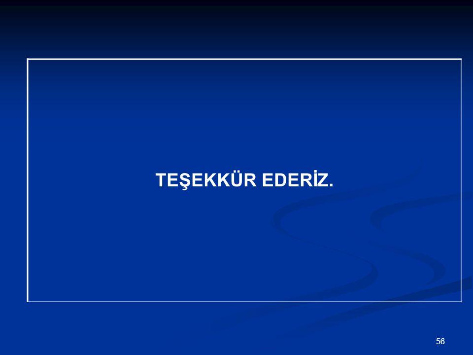 TEŞEKKÜR EDERİZ. 56
