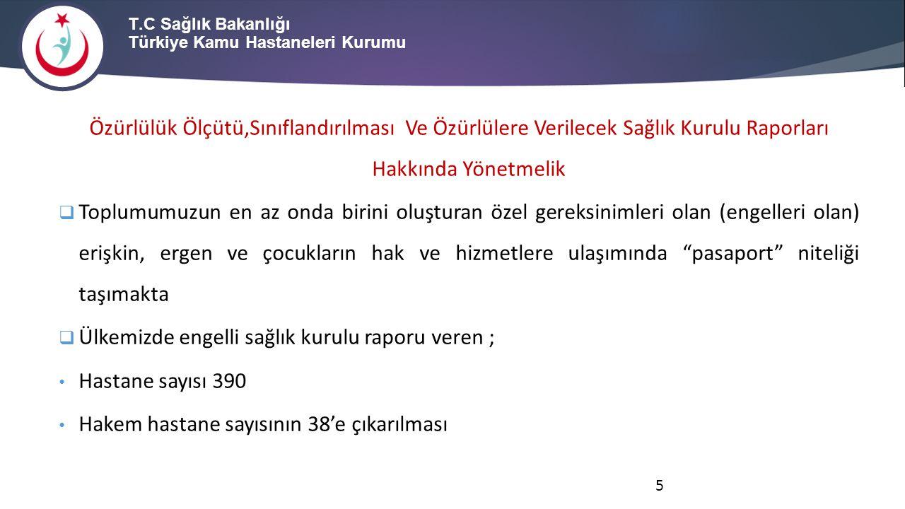 T.C Sağlık Bakanlığı Türkiye Kamu Hastaneleri Kurumu Çocukların-gençlerin özel gereksinimlerini belirleme, sınıflandırma, derecelendirme, belgeleme, uygulama ve diğer süreçlerde sözlü, yazılı, davranış ya da tutum olarak herhangi bir ayrımcılık ya da damgalama olmaması esastır.