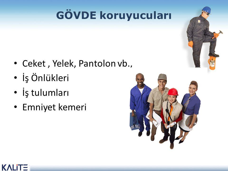 GÖVDE koruyucuları Ceket, Yelek, Pantolon vb., İş Önlükleri İş tulumları Emniyet kemeri