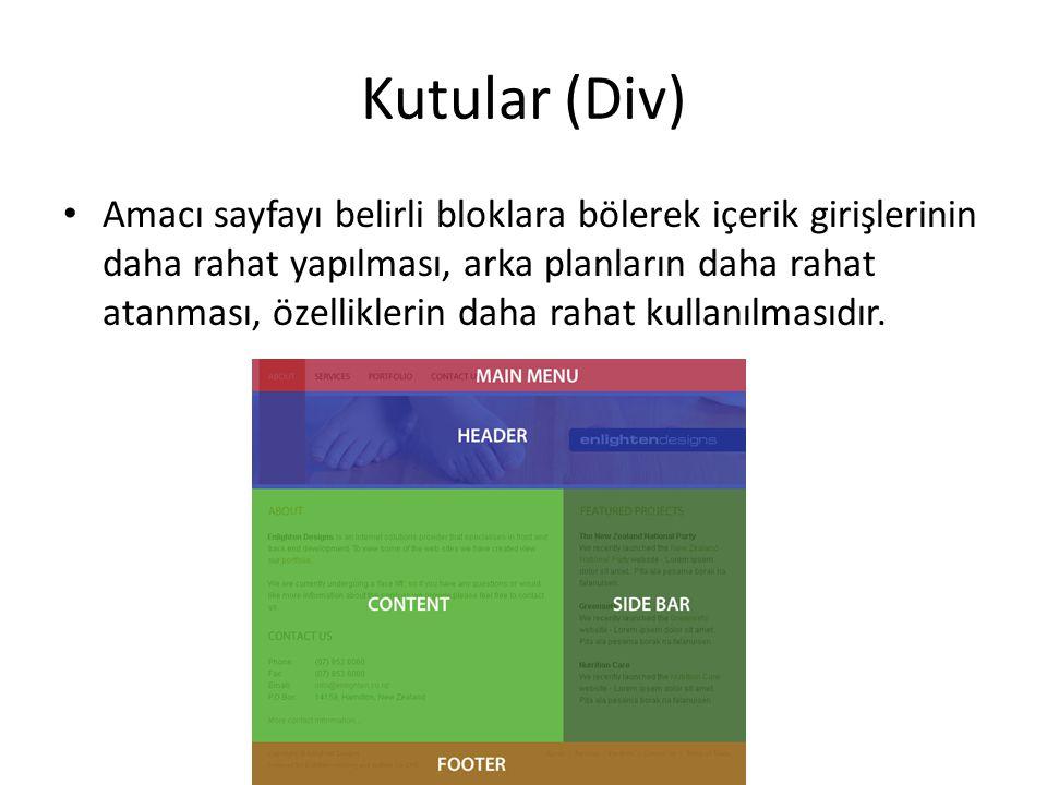 Alt Alta Div'ler DIV1 DIV2 DIV3 #div1 { background: red; height: 100px; width: 150px; } #div2 { background: yellow; height: 300px; width: 150px; } #div3 { background: blue; height: 200px; width: 150px;