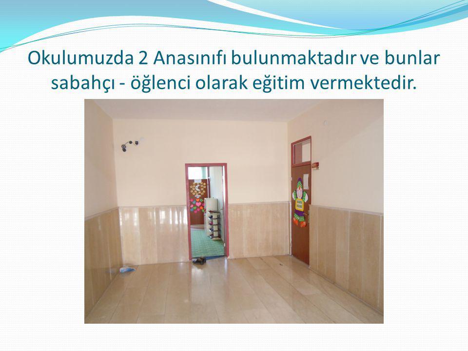 Okulumuzda 2 Anasınıfı bulunmaktadır ve bunlar sabahçı - öğlenci olarak eğitim vermektedir.