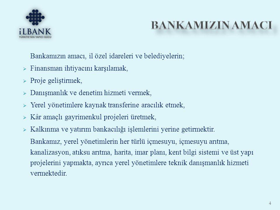  İller Bankası Anonim Şirketi nin organizasyon yapısı Genel Müdürlük ve Yurt İçi Hizmet birimlerinden oluşur.