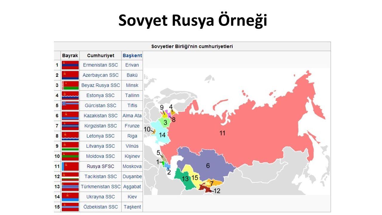Sovyet Rusya Örneği