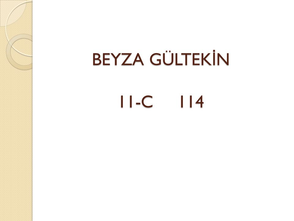 BEYZA GÜLTEK İ N 11-C 114