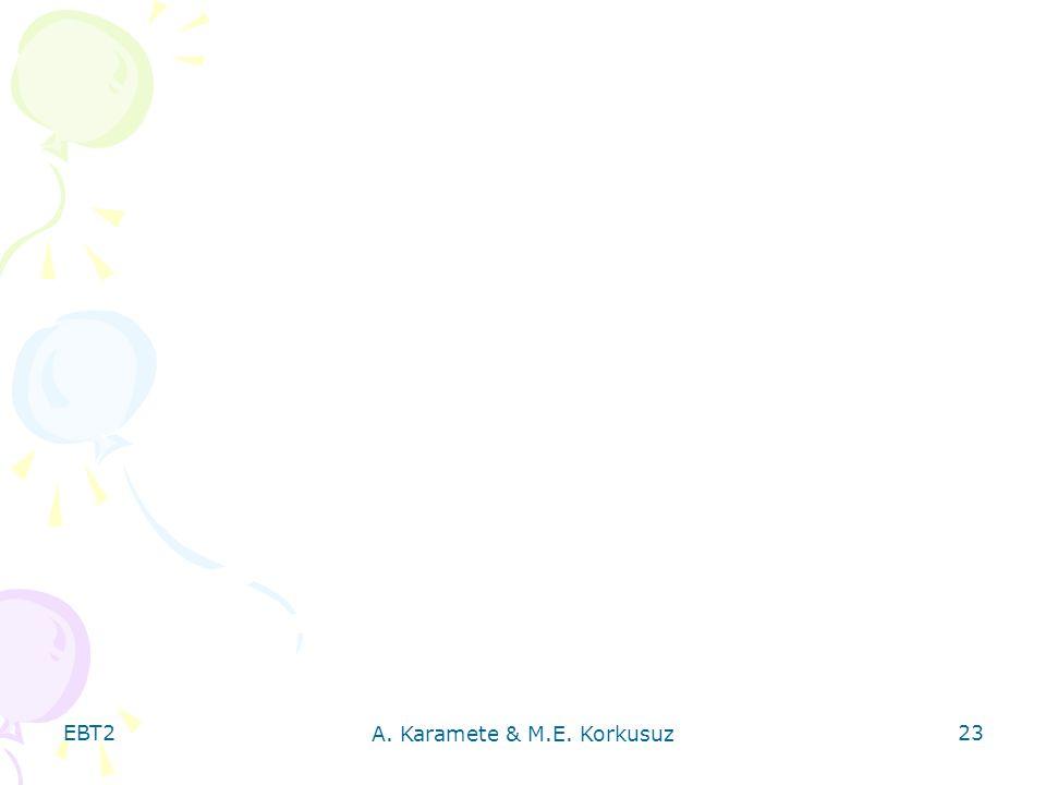 EBT2 A. Karamete & M.E. Korkusuz 23