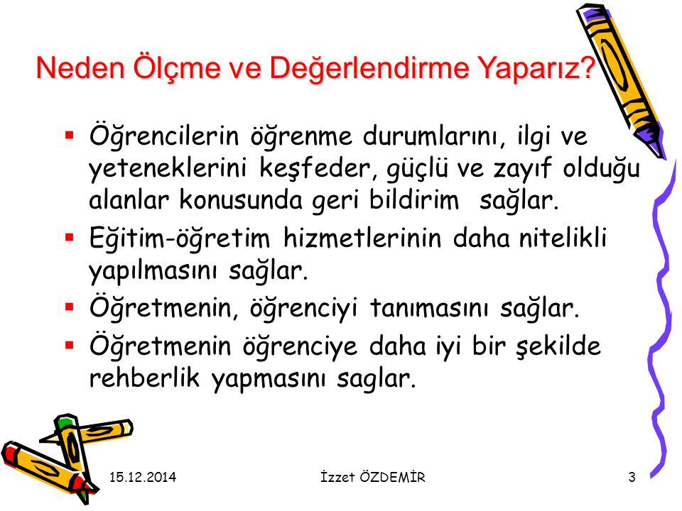 15.12.2014İzzet ÖZDEMİR94 Öğrenci Ürün Dosyası neler içerir.