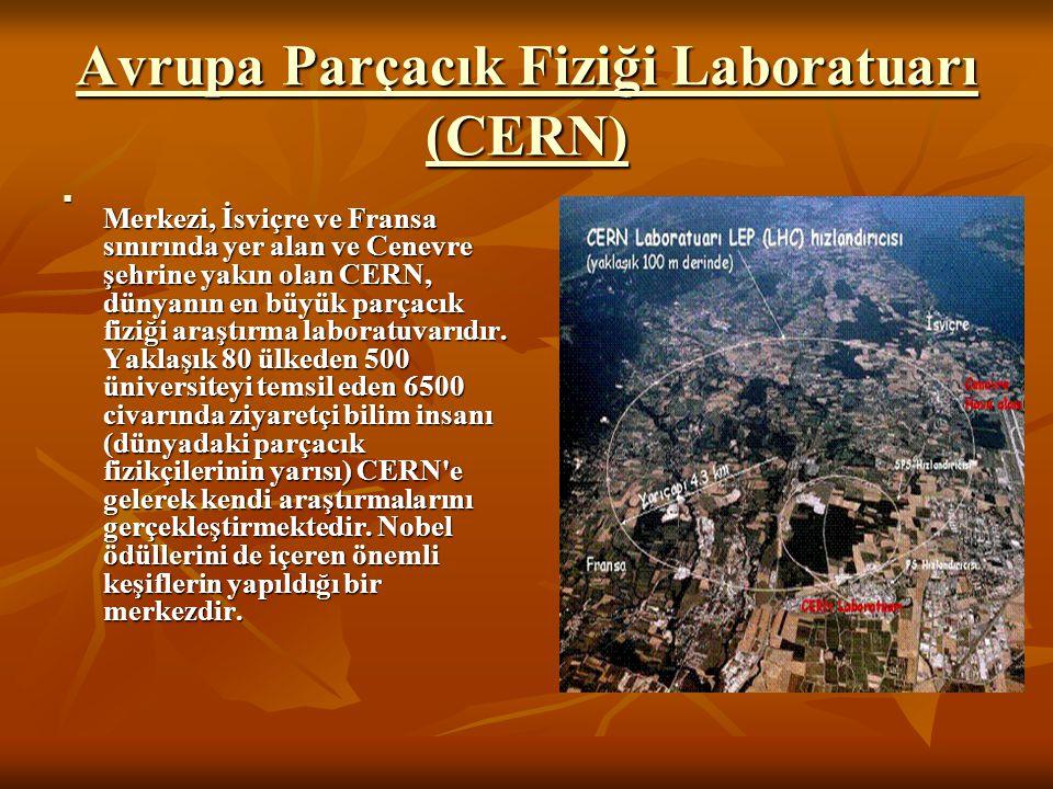Avrupa Parçacık Fiziği Laboratuarı (CERN) Avrupa Parçacık Fiziği Laboratuarı (CERN) Merkezi, İsviçre ve Fransa sınırında yer alan ve Cenevre şehrine y