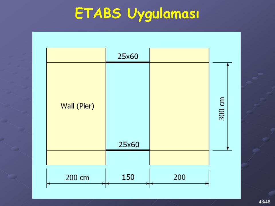 43/48 ETABS Uygulaması