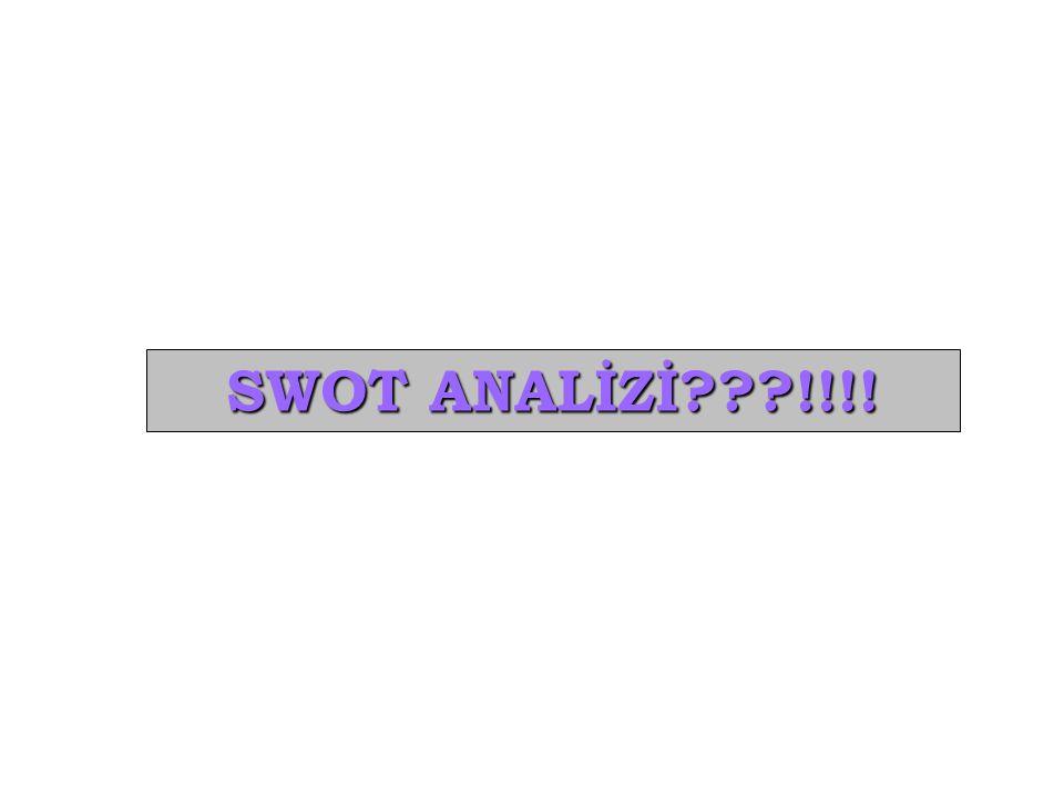 SWOT ANALİZİ !!!!