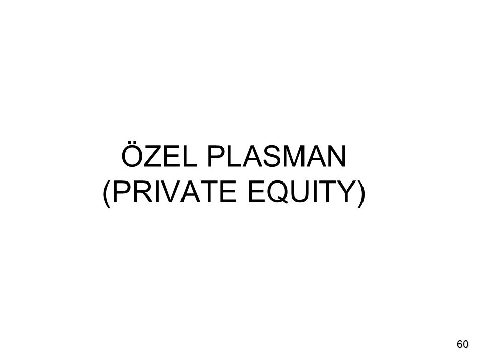 ÖZEL PLASMAN (PRIVATE EQUITY) 60