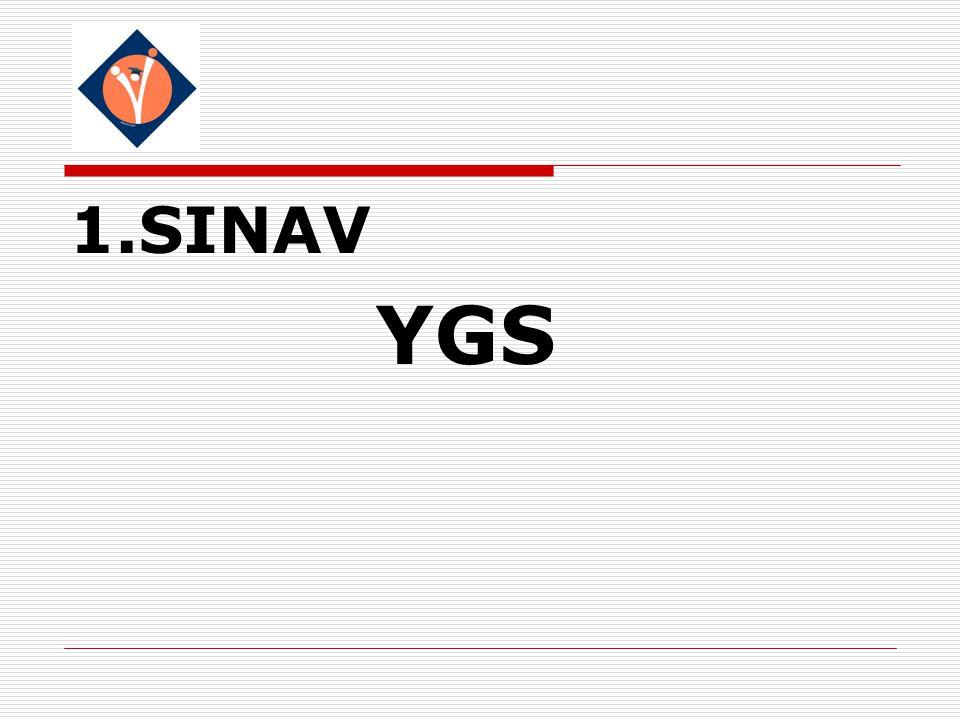 1.SINAV YGS