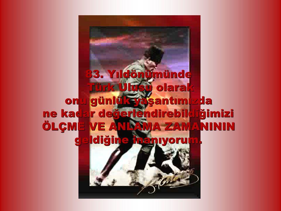 Türk Ulusu ne yazık ki, hür düşünce olanağının elinden alındığını zannederek, BU HAKKINI VE SORUMLULUĞUNU DA BİLİNÇALTINA İTMİŞTİR.