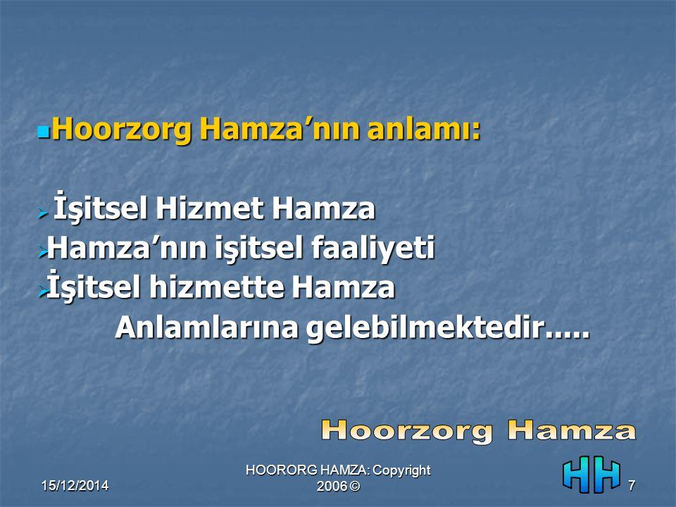 15/12/2014 HOORORG HAMZA: Copyright 2006 ©7 Hoorzorg Hamza'nın anlamı: Hoorzorg Hamza'nın anlamı:  İşitsel Hizmet Hamza  Hamza'nın işitsel faaliyeti