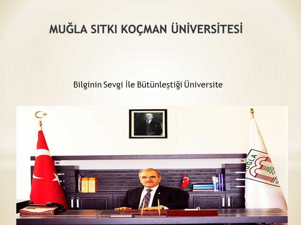 Muğla ilindeki ilk yükseköğrenim birimi, 1975 yılında Ankara İktisadi ve Ticari İlimler Akademisine bağlı olarak kurulmuş olan Muğla İşletmecilik Yüksekokuludur.