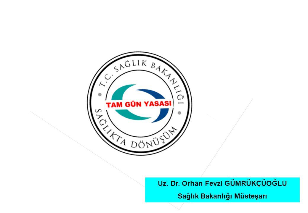 1 Uz. Dr. Orhan Fevzi GÜMRÜKÇÜOĞLU Sağlık Bakanlığı Müsteşarı