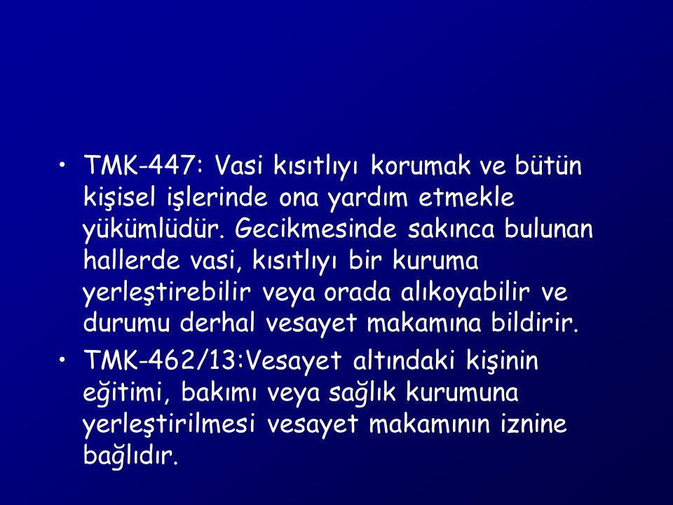 Yeni Türk Ceza Kanunu Akıl hastası üzerindeki bakım ve gözetim yükümlülüğünün ihlali: Madde 175-(1): …..yükümlülüğünü, başkalarının hayatı, sağlığı veya malvarlığı bakımından tehlikeli olabilecek şekilde ihmal eden kişi, 6 aya kadar hapis veya adli para cezası ile cezalandırılır.