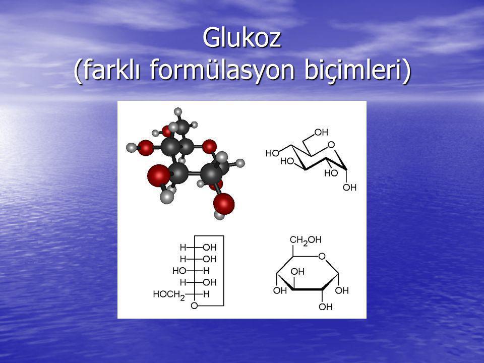 Glukoz (farklı formülasyon biçimleri)