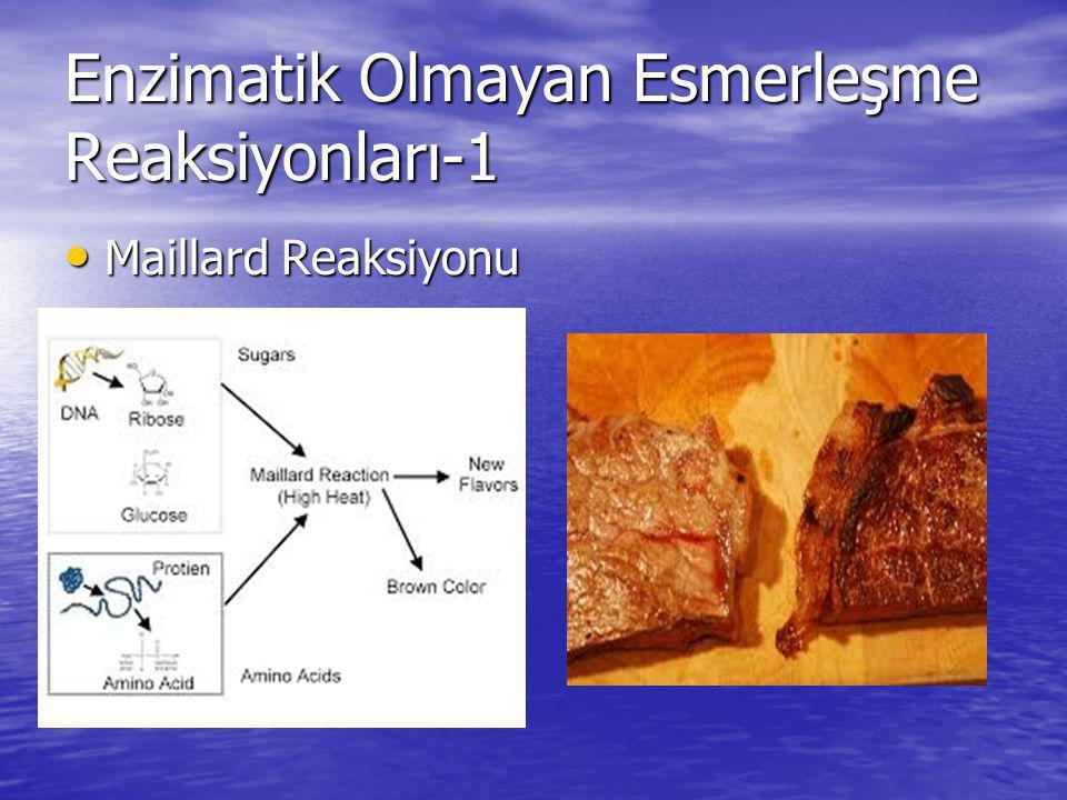 Enzimatik Olmayan Esmerleşme Reaksiyonları-1 Maillard Reaksiyonu Maillard Reaksiyonu