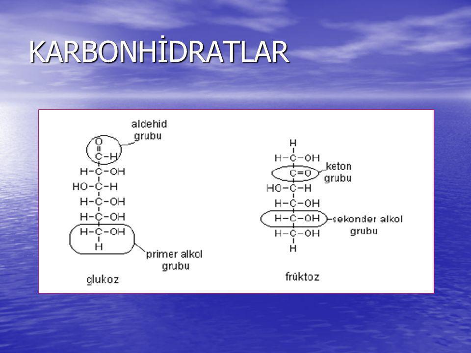 Glikosidik Bağ Oluşumu R-OH + HO-R  R-O-R + H 2 O R-OH + HO-R  R-O-R + H 2 O