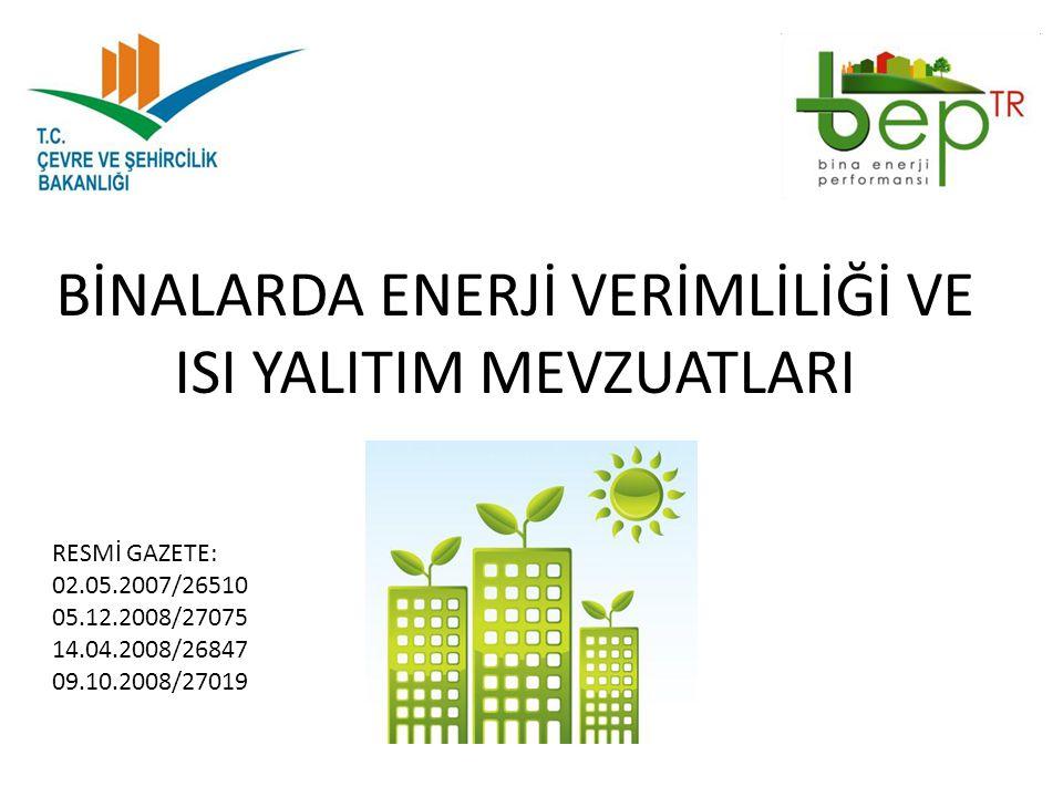 GEF-5 (UNDP(Birleşmiş Milletler Kalkınma Programı-Çevre ve Şehircilik Bakanlığı) : Projenin Genel Amacı: Projenin genel amacı, ekonomik kazanç sağlamak, iklim değişikliği ile mücadeleye katkı sağlamak ve enerji arzının güvenliğini sağlamak için Türkiye'de Yerel Yönetimlerde enerji verimliliğinin arttırılmasıdır.