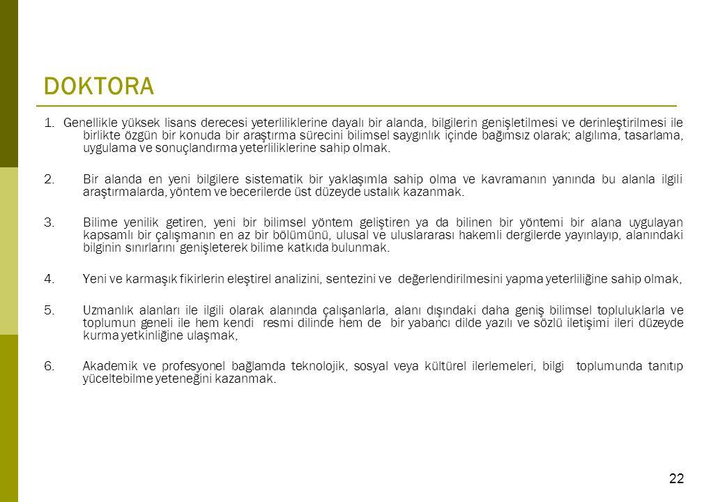 DOKTORA 1.