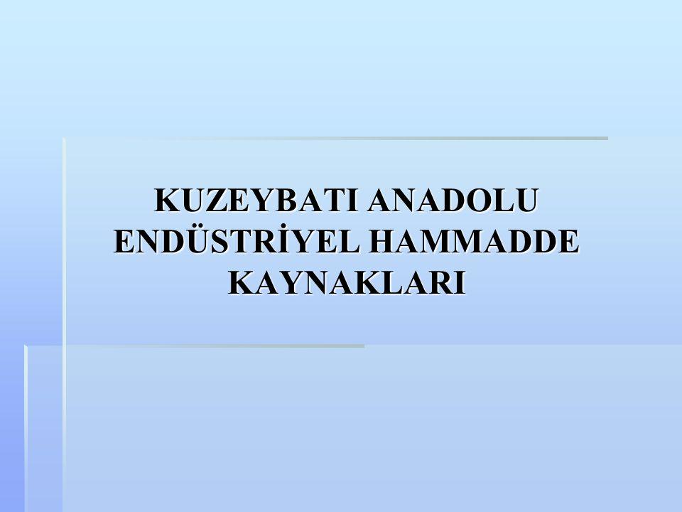 KUZEYBATI ANADOLU ENDÜSTRİYEL HAMMADDE KAYNAKLARI