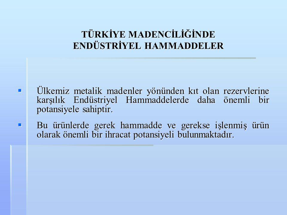  Balıkesir-İvrindi Madra Dağı'nın Gümeli Köyü civarında Epimetamorfik-metasedimenter seriler içindeki talk oluşumları 6 milyon ton gör.