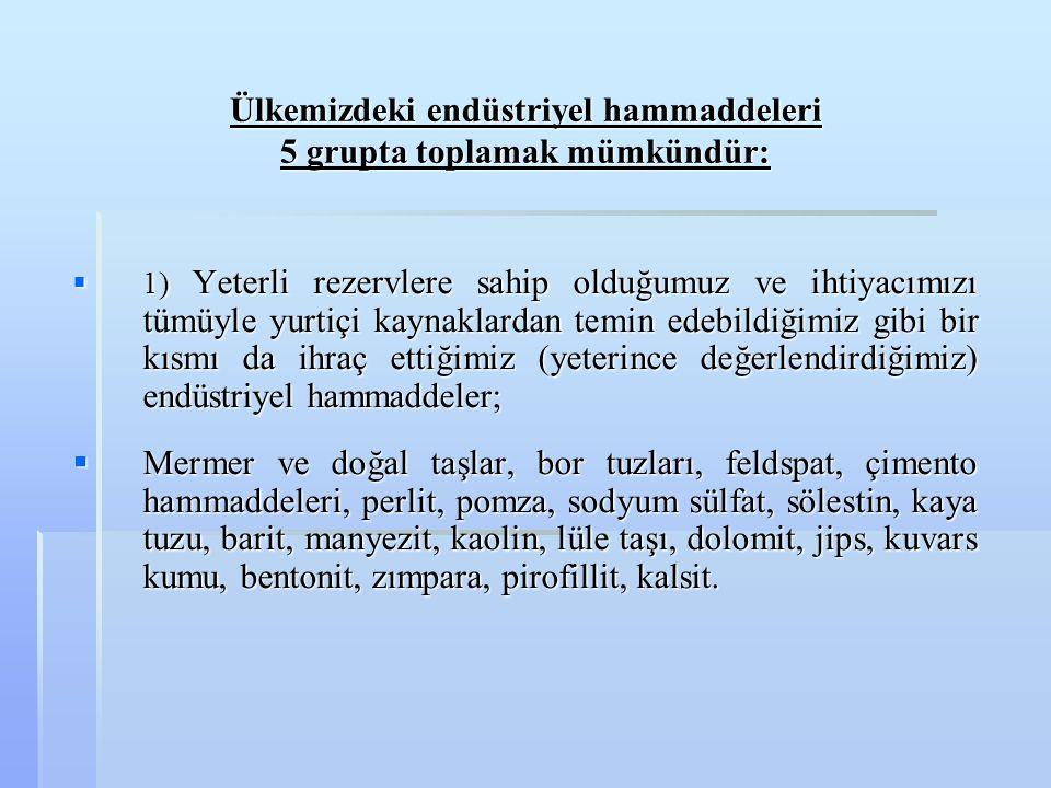 BALIKESİR-SINDIRGI-DÜVERTEPE OCAKLARI: BALIKESİR-SINDIRGI-DÜVERTEPE OCAKLARI:  Türkiye'nin bilinen ve 1970'li yıllardan beri yaygın olarak işletilen kaolin ocakları bu bölgededir.