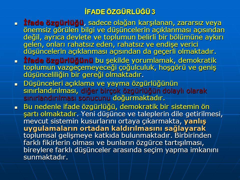 KİŞİSEL VE SİYASAL HAKLAR ULUSLARARASI SÖZLEŞMESİ 19.
