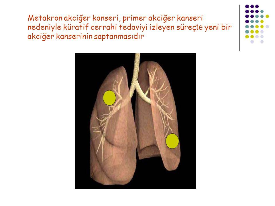Metakron akciğer kanseri, primer akciğer kanseri nedeniyle küratif cerrahi tedaviyi izleyen süreç te yeni bir akciğer kanserinin saptanmasıdır