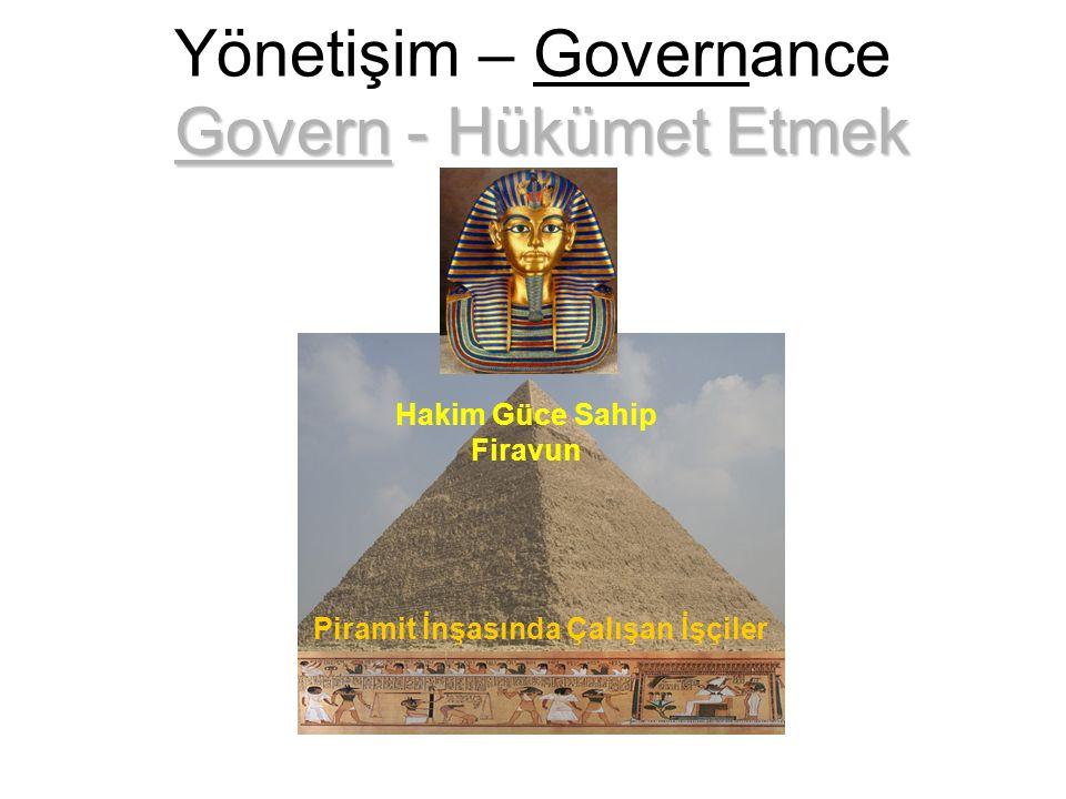 Hakim Güce Sahip Firavun Govern - Hükümet Etmek Yönetişim – Governance Govern - Hükümet Etmek Piramit İnşasında Çalışan İşçiler