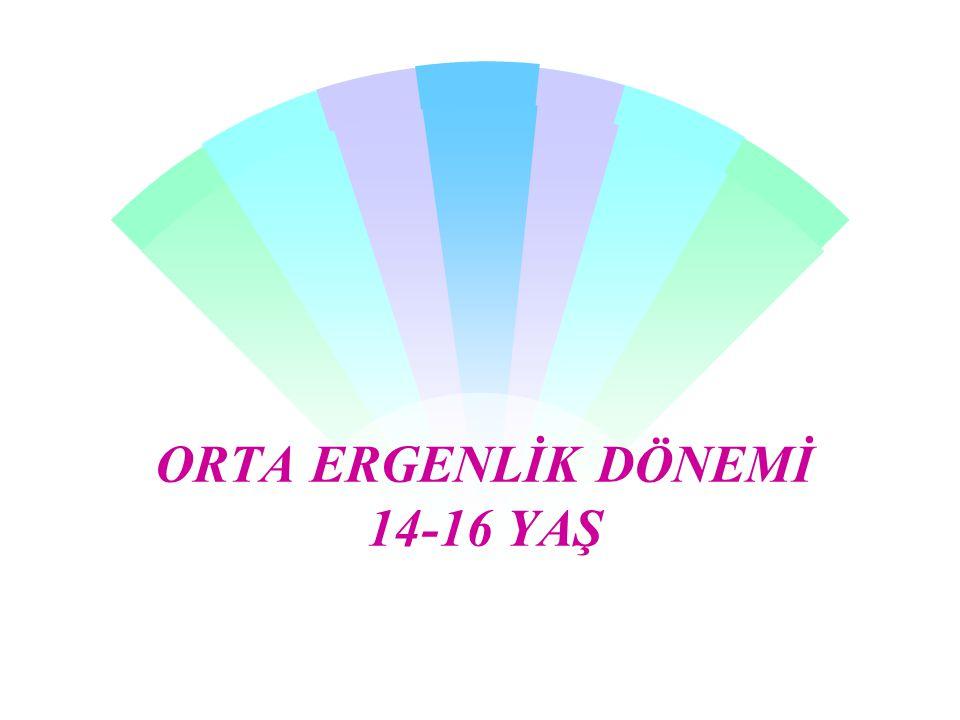 ORTA ERGENLİK DÖNEMİ 14-16 YAŞ
