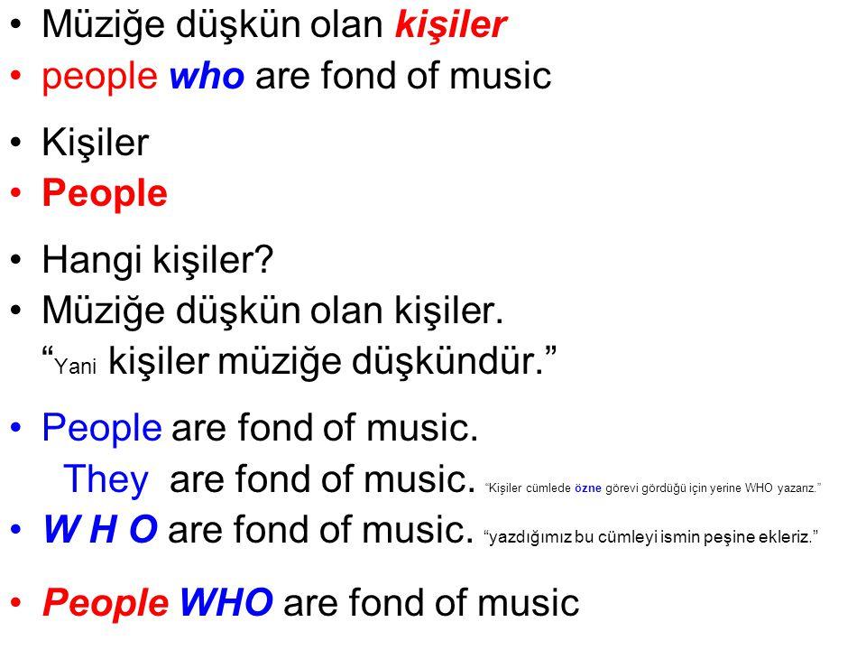 Müziğe düşkün olan kişiler people who are fond of music Kişiler People Hangi kişiler.