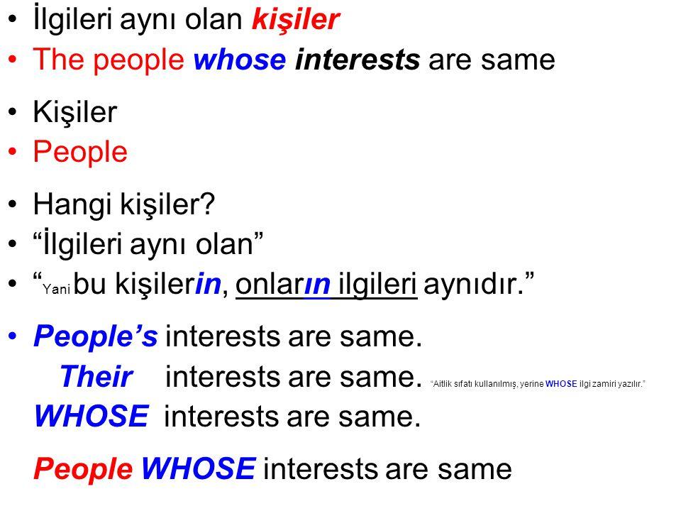 İlgileri aynı olan kişiler The people whose interests are same Kişiler People Hangi kişiler.