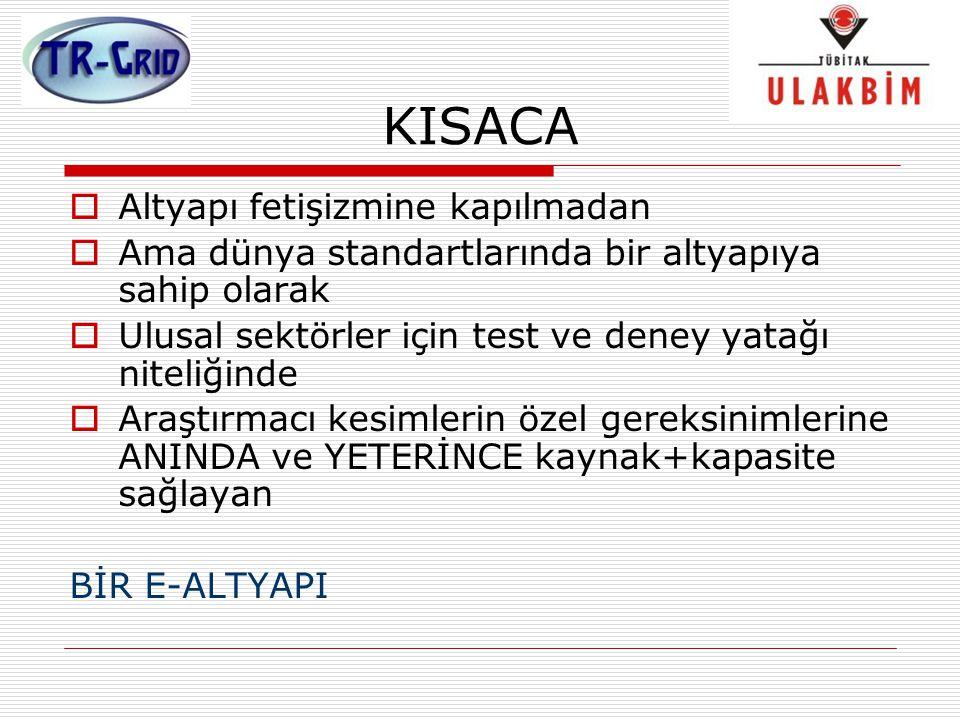 KISACA  Altyapı fetişizmine kapılmadan  Ama dünya standartlarında bir altyapıya sahip olarak  Ulusal sektörler için test ve deney yatağı niteliğind