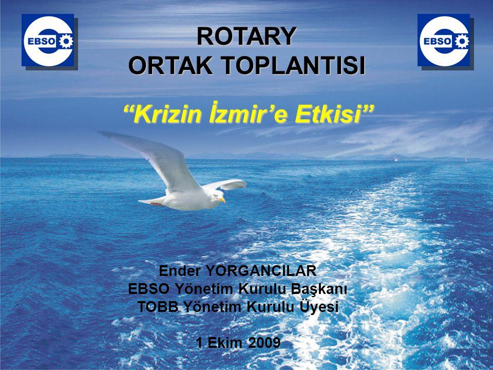 EGE BÖLGESİ SANAYİ ODASI 2 Gündem  İzmir İçin Krizin Temel Göstergeleri  Atatürk OSB Açısından Durum Değerlendirmesi  İzmir'de İstihdamdaki Gelişmeler  İhracat Verilerinin Gelişimi  Genel Değerlendirme