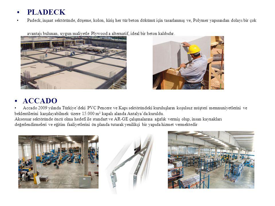 PLADECK Padeck, inşaat sektöründe, döşeme, kolon, kiriş her tür beton dökümü için tasarlanmış ve, Polymer yapısından dolayı bir çok avantajı bulunan,