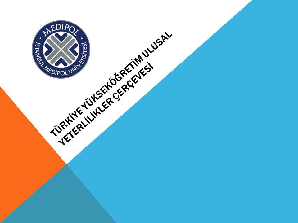 Yüksek Öğretim Kurumlarından Beklentiler: - Ulusal Yeterlilikler Çerçevesi ve Alan Yeterlilikleri doğrultusunda yükseköğretim programlarının (lisans, yüksek lisans ve doktora) program yeterliliklerini öğrenme çıktılarına dayalı olarak tanımlamaları, - Program yeterliliklerinin başarılmasını sağlayacak ders/modüllerin belirlenmesi, - Ders/modüllerin öğrenme çıktılarının belirlenmesi, - Ders/modüller için öğrenci iş yükünün ve ACTS kredilerinin hesaplanarak sürekli kalite geliştirme çalışmalarına entegre edilmesi beklenmektedir.