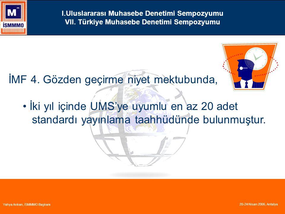 I.Uluslararası Muhasebe Denetimi Sempozyumu VII.Türkiye Muhasebe Denetimi Sempozyumu İMF 4.