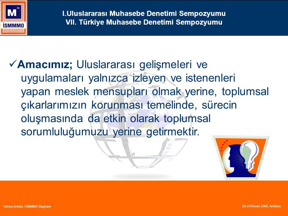 I.Uluslararası Muhasebe Denetimi Sempozyumu VII.