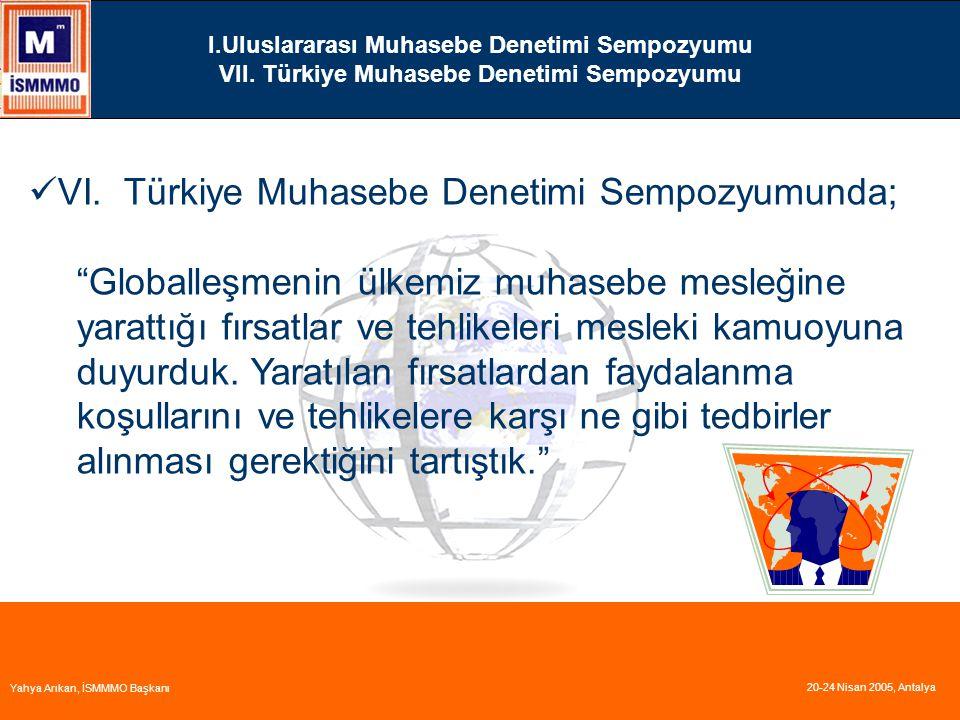 I.Uluslararası Muhasebe Denetimi Sempozyumu VII.Türkiye Muhasebe Denetimi Sempozyumu VI.
