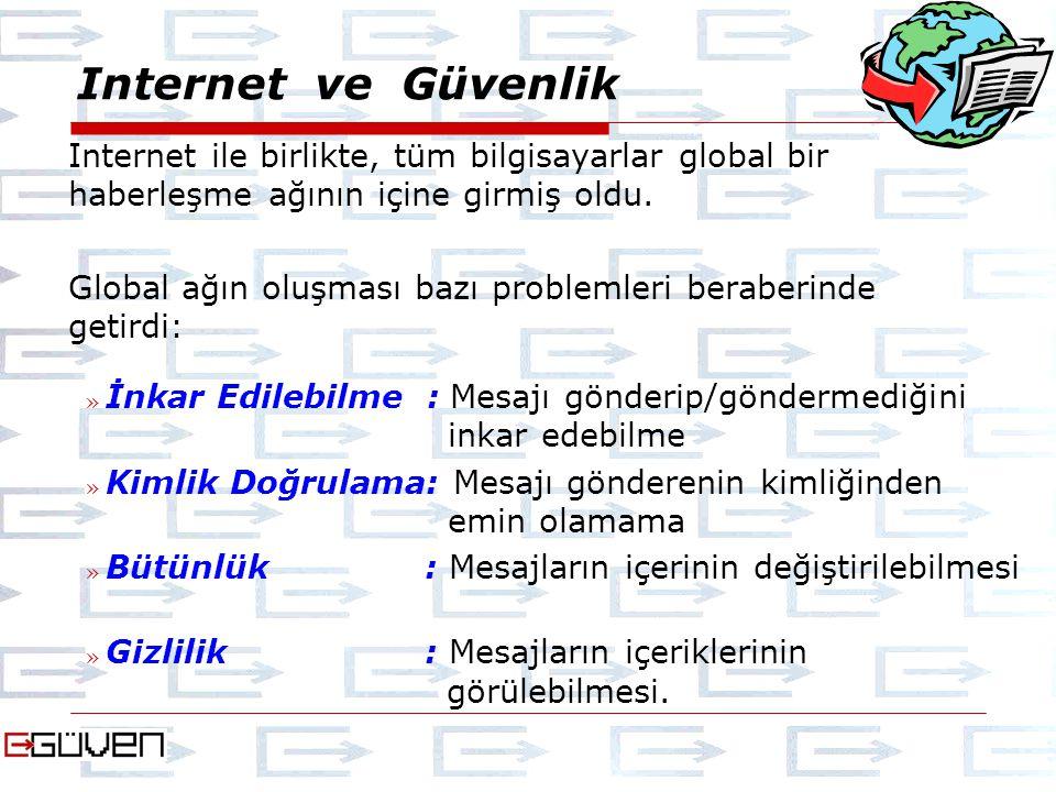 Internet ve Güvenlik Internet ile birlikte, tüm bilgisayarlar global bir haberleşme ağının içine girmiş oldu.